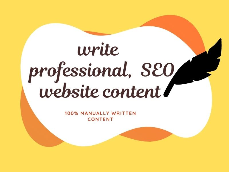 I will write professional, and quality SEO website content.