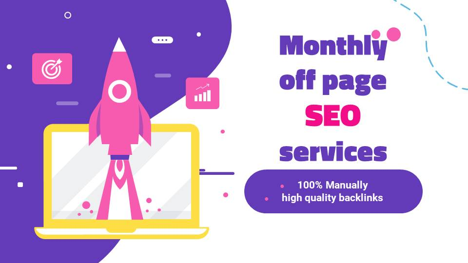 I will do monthly off page seo services for ranking your website on Google TOP page