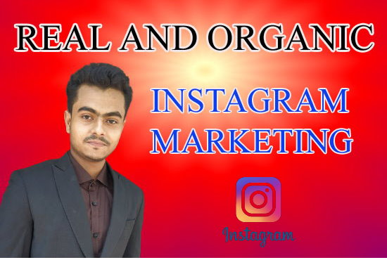 I will do instagram marketing and promotion for organic growth