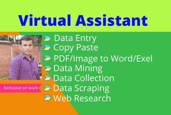 I will do perfect data entry and web research work