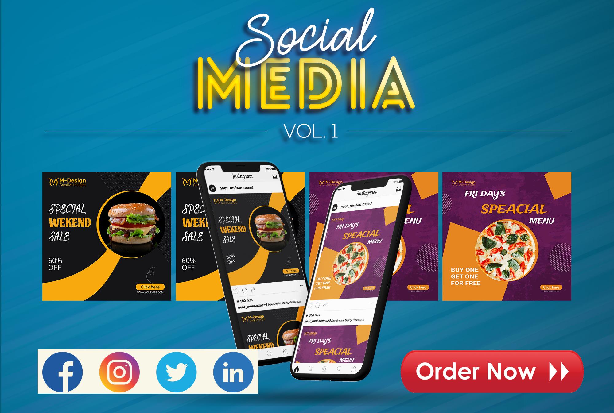 I will design social media ads banner design