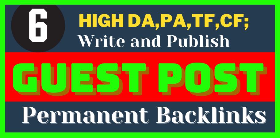 I'll do 6 H.Q. DA, PA permanent do-follow Backlinks on reddit, medium, behance, linkedin,  etc