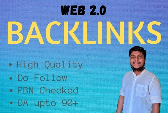 I Will Build 20 High Quality Web 2.0 Do Follow Backlinks