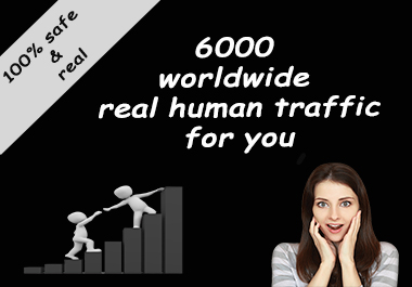 5000-6000 Real human World wide traffic for your website and blog