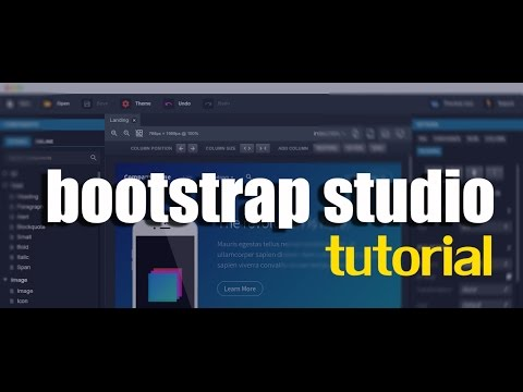 I will provide you a full tutorial on Bootstrap Studio