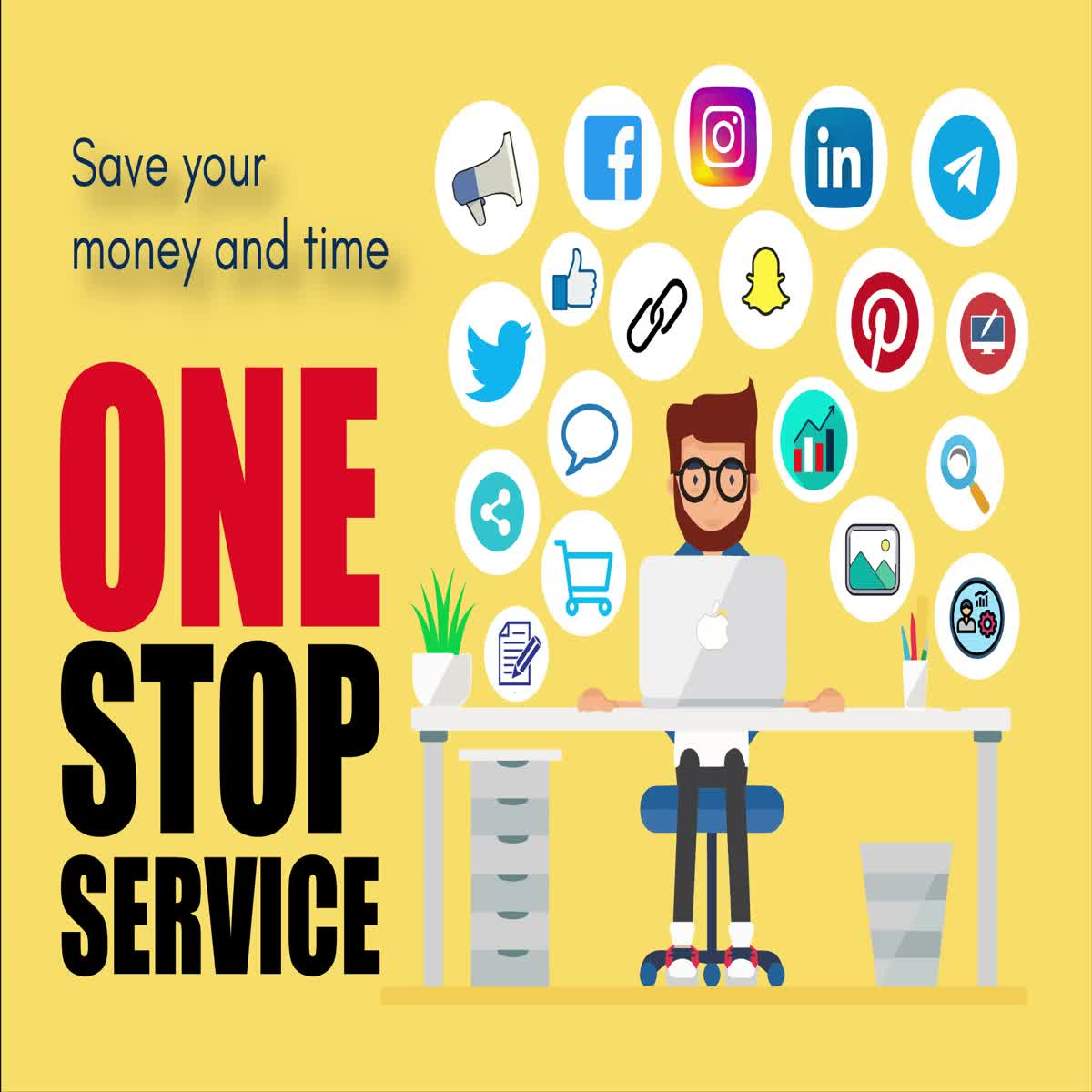 I Manage your social media and virtual assistant, graphics design for your social media 7 da