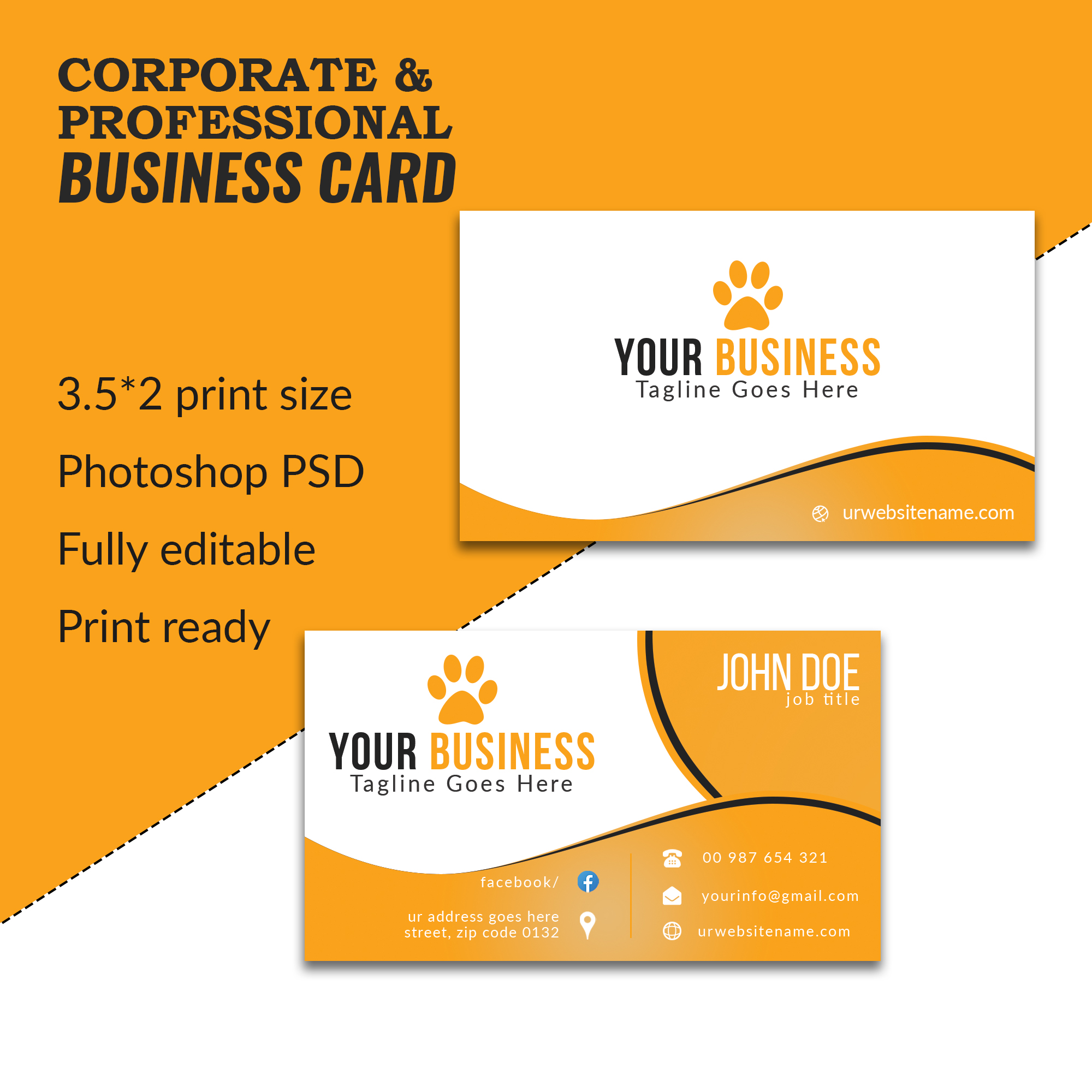 I will design luxurious business card for you