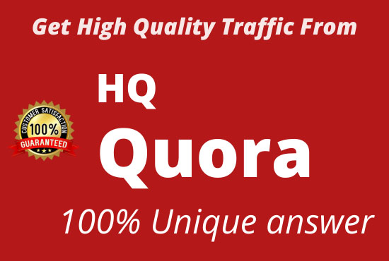 targeted traffic with answer 30 backlinks Quora answer