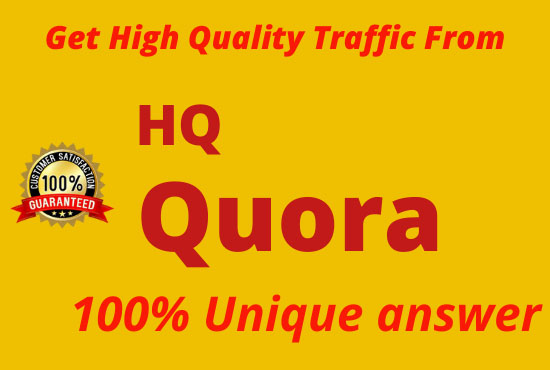 10 HQ Quora Answer with Real Targeted Traffic