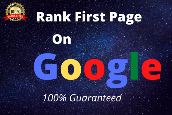 I will offer guaranteed google 1st page ranking service.