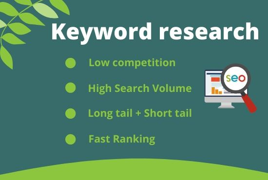 I will do a excellent SEO keyword research and competitor analysis