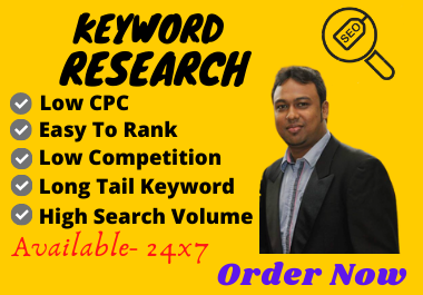 I will do SEO research for your product or website