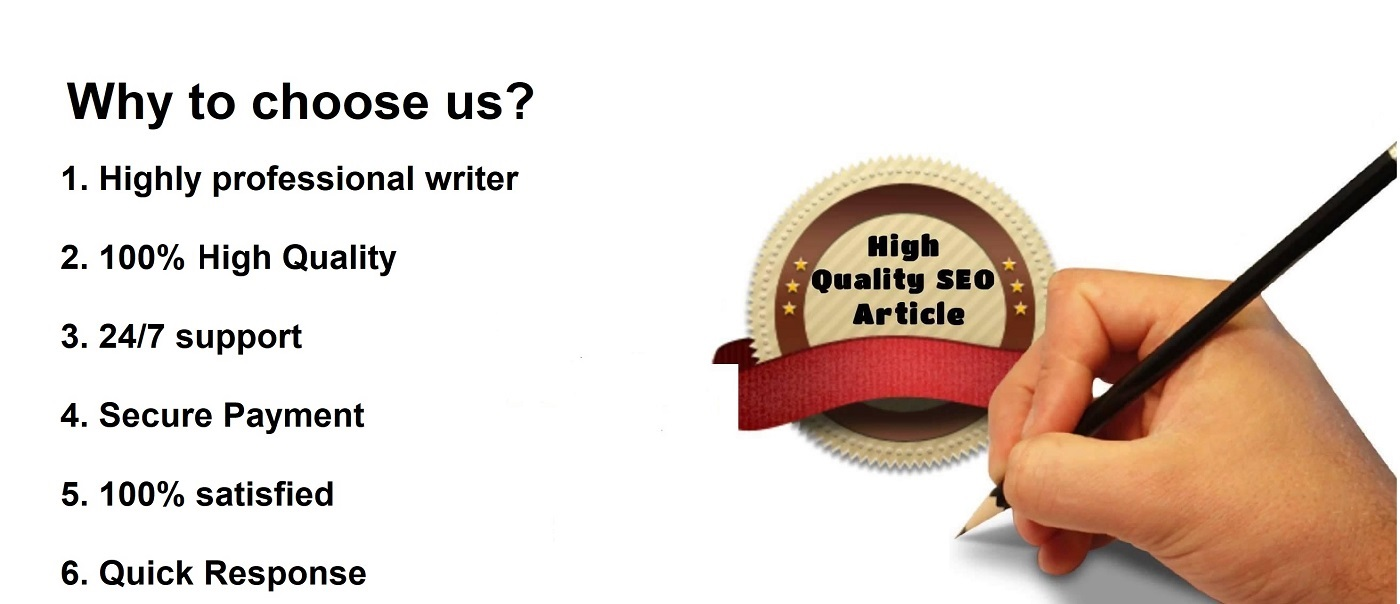 create 1000 words SEO Optimized Article Writing,  Content Writing or blog post writing