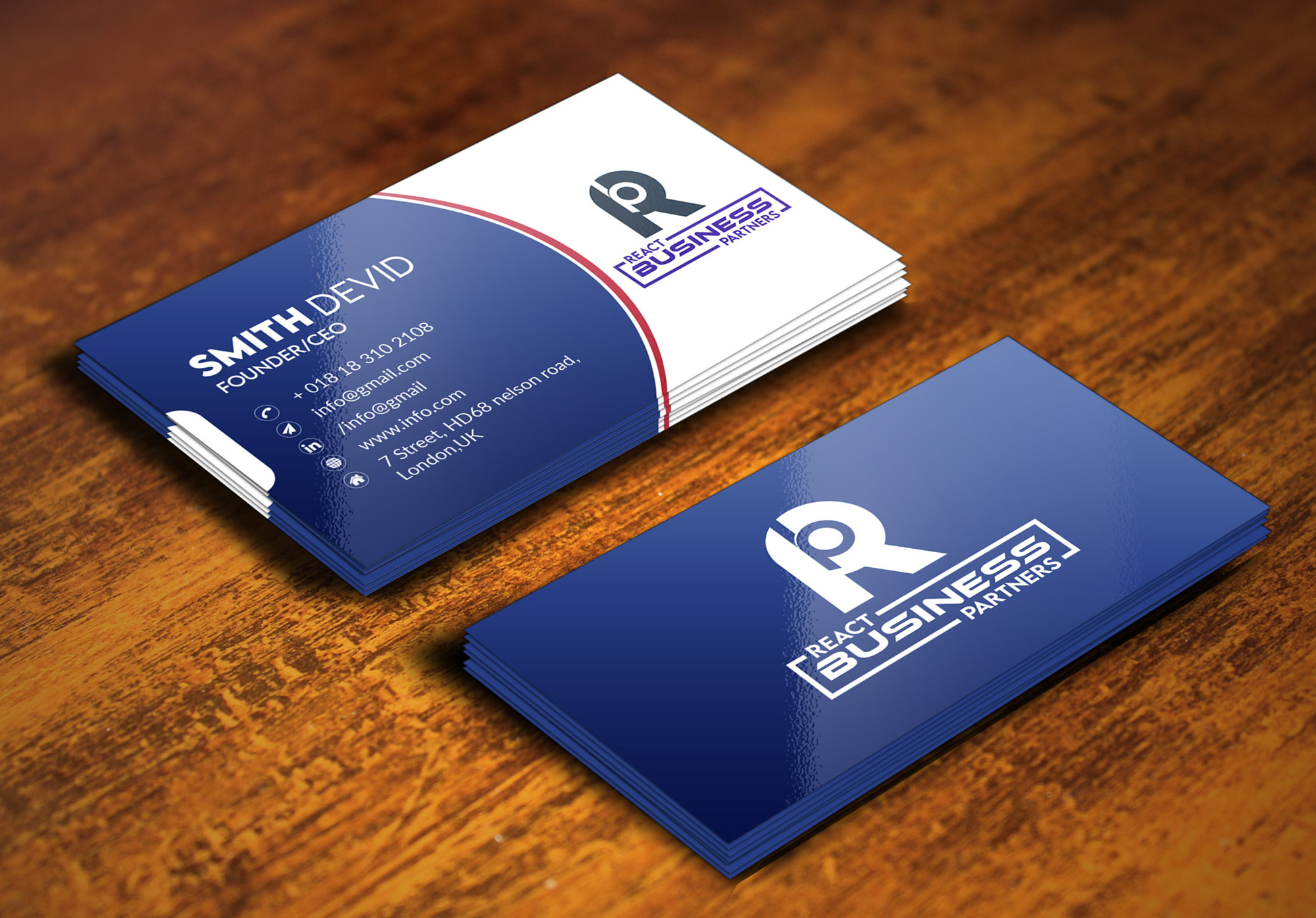 unique and professional business card design