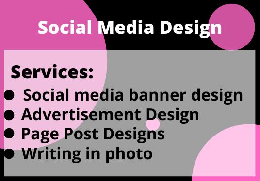 I will design social media graphic design