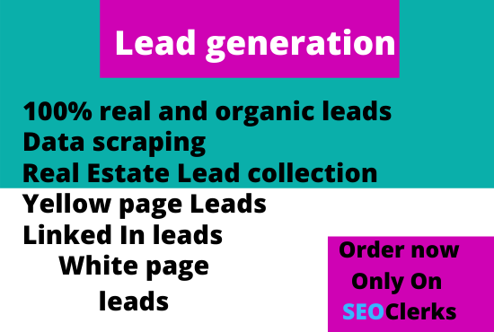 I will provide manually collected leads on your requirements