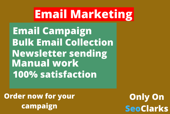 I will do Email Marketing Campaigns