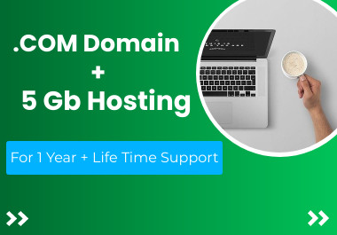 HOT Get. com domain + 5 gb hosting + free Life Time support