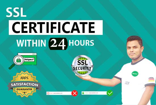 I will install free ssl certificate