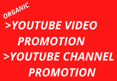 I will do organic YouTube promotion using social media platform