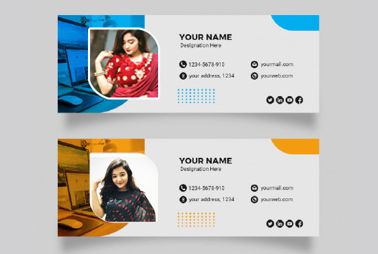 I will design a email signature for outlook, gmail etc with clickable HTML responsive and template