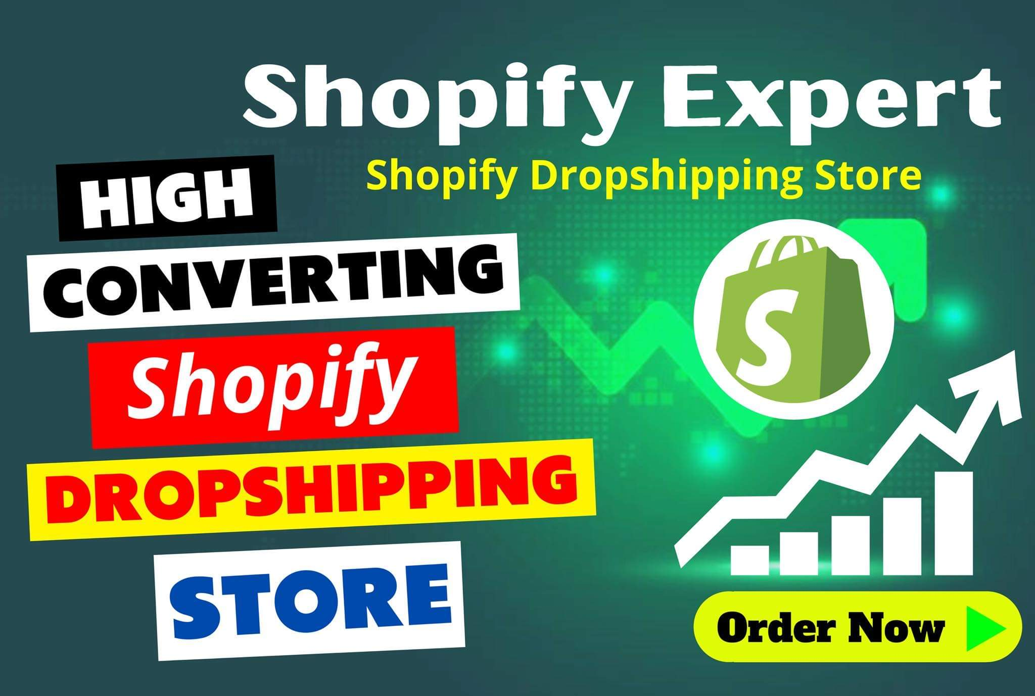 I will build shopify store,  shopify dropshipping store or shopify website