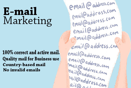 I will find targeted 2k email list for any country for email marketing