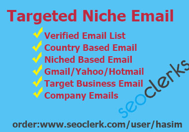 I will do web research for email,  targeted country/ company