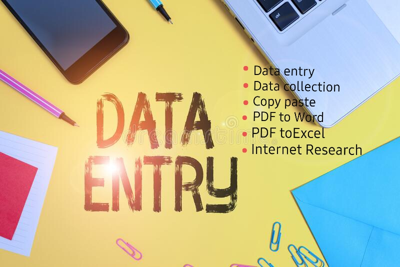 Do any Typing,  Data Entry,  copy paste and Research projects