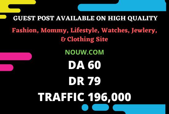 I will publish high quality SEO guest post on my da 60 and da 79