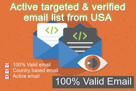 active targeted & verified email list from USA or other country