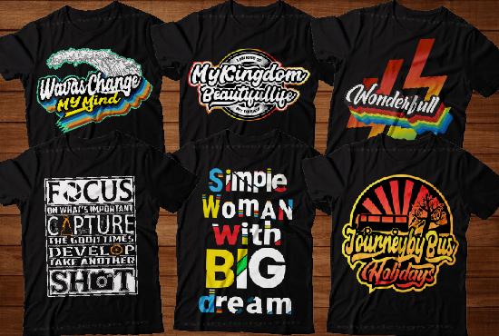 I will create eye catching custom t shirt design