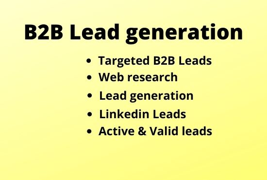 I will provide targeted b2b lead generation
