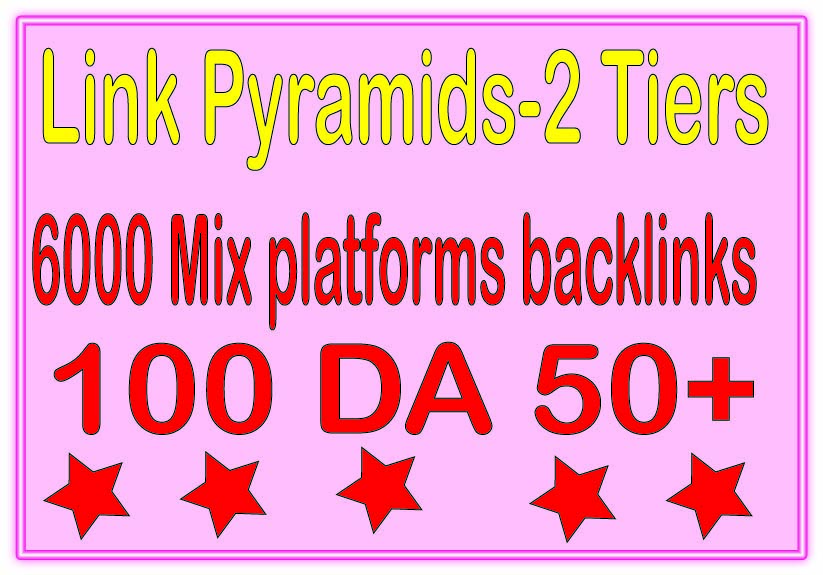 Best Multi-Tier Backlinks - 6100 PR9 DA 50+ &. Mix platforms Tiered Backlinks For SEO