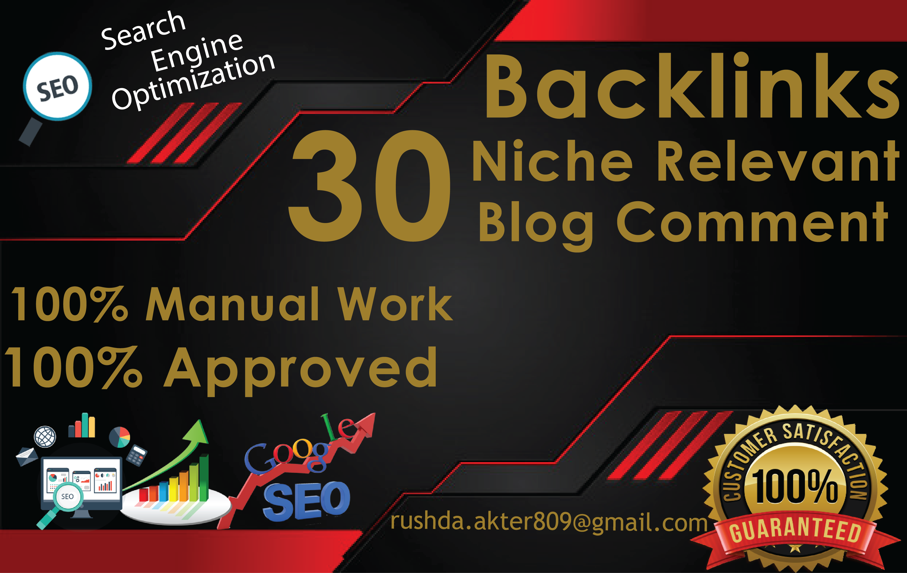 I will make 30 High Quality Niche Relevant Blog comments Back links