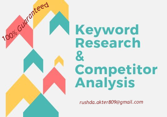 I will perform niche relevant keyword research & competitors analysis