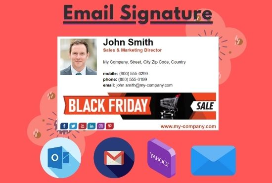 Create Professional Email Signature Clickable