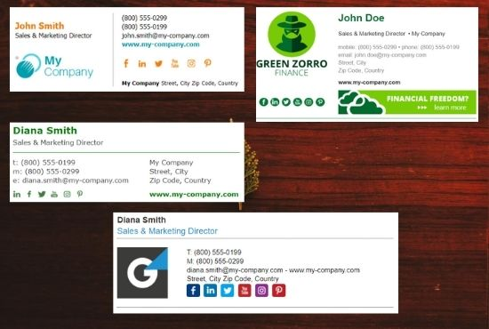 Create Professional Email Signature Clickable