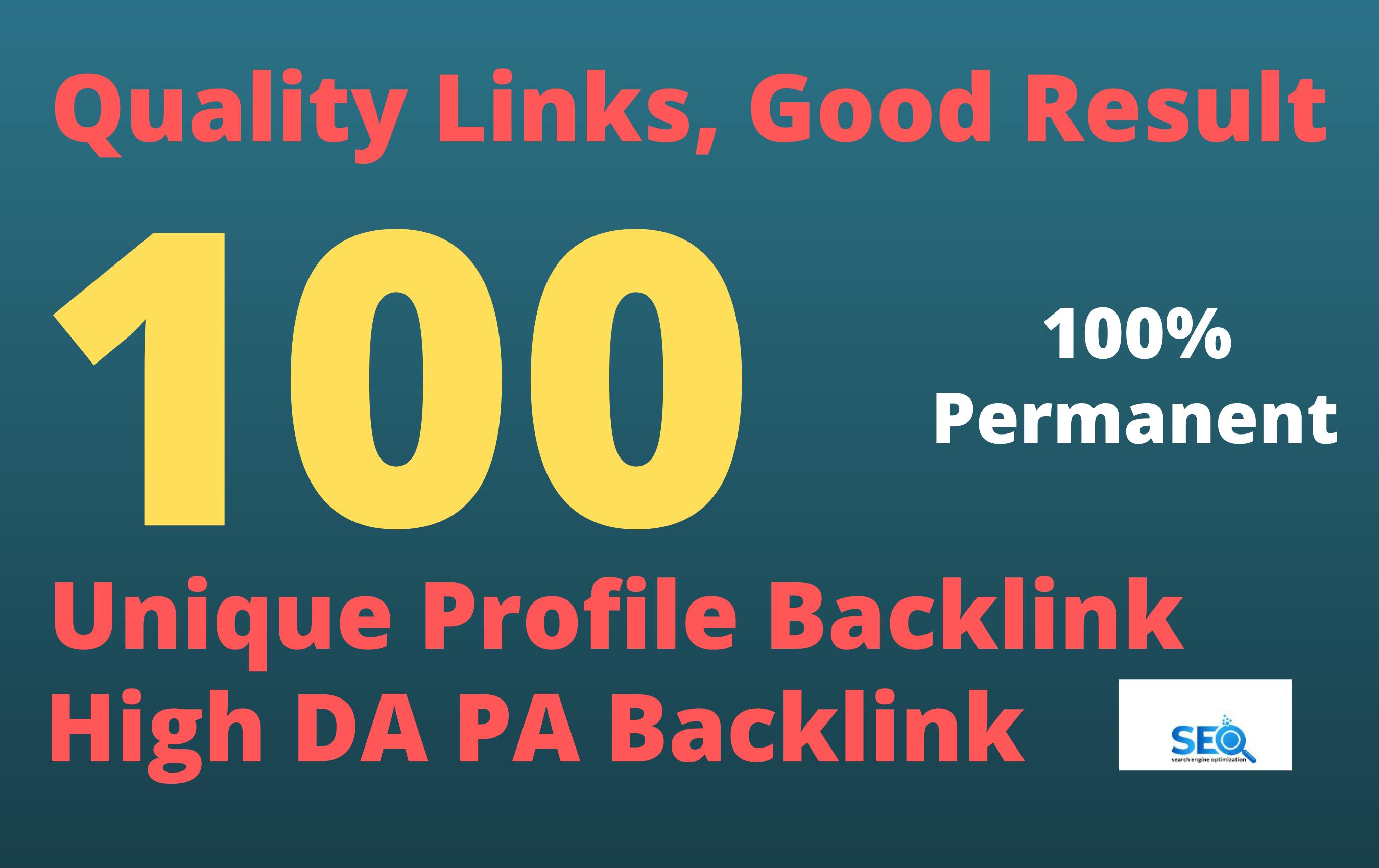 100 high da and pa profile creation backlinks