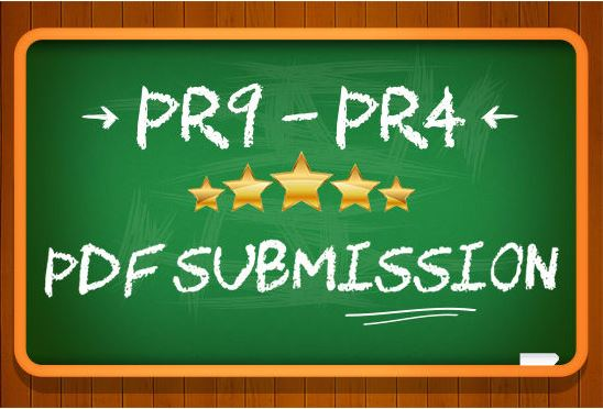 I will submit 20 PDF submission on document high pr sharing sites with unique pdf
