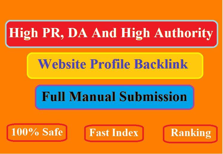 20 high da and pa profile creation backlinks