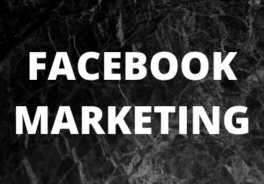 I will do professionally facebook marketing for your business