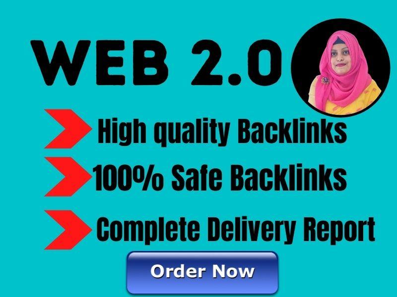 I will provide 10 web 2.0 dofollow backlink