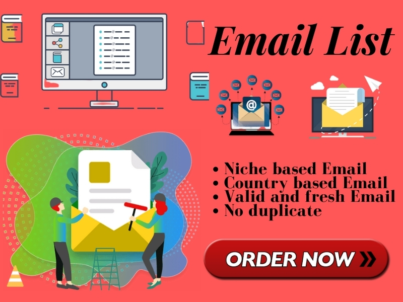 I will collect 1k niche targeted email list for your email marketing