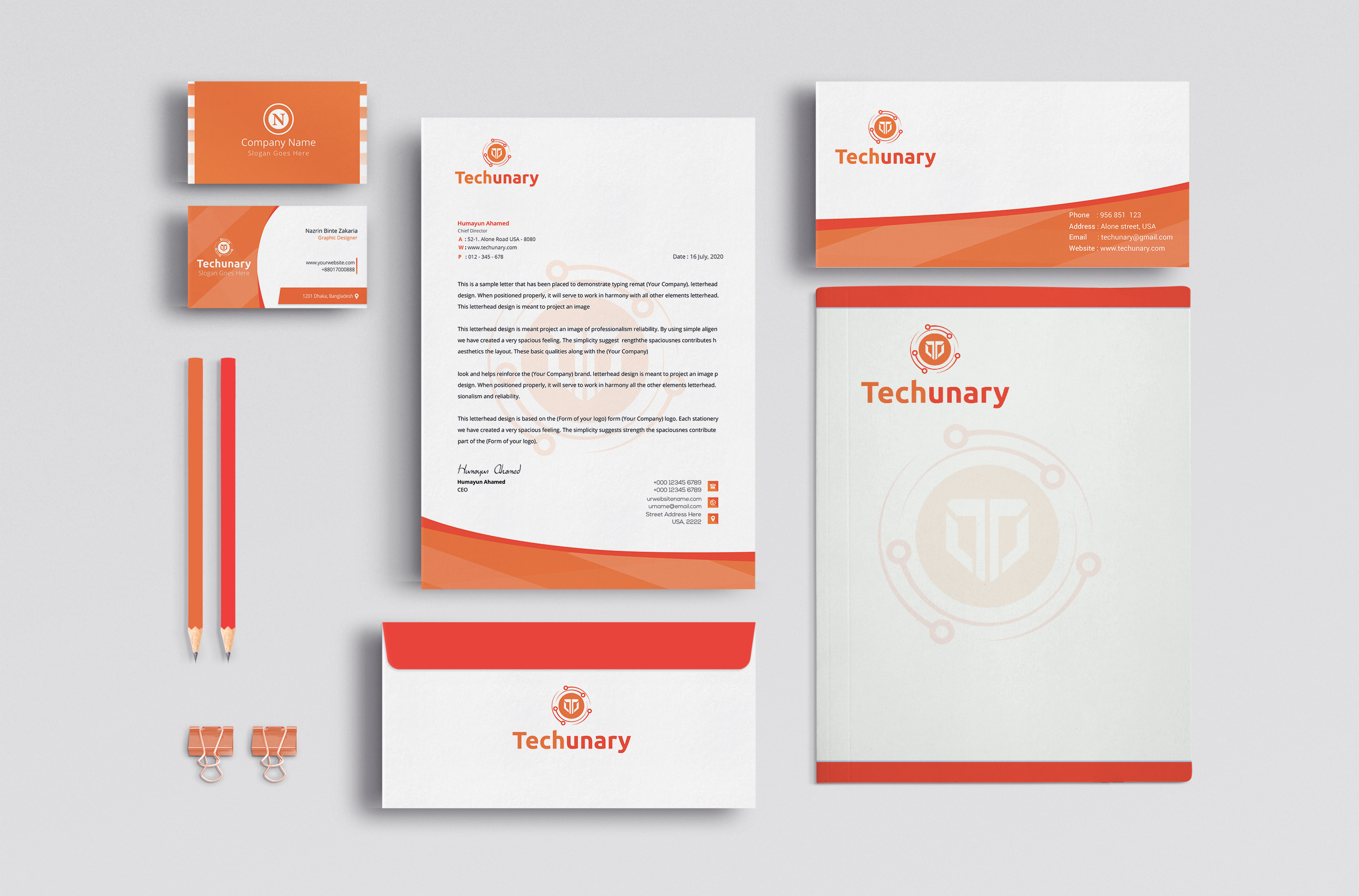I will design a Awesome Business card and Stationery for you in 1day
