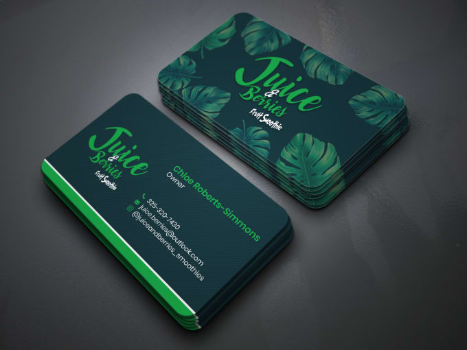 I will do professional print ready double sided business card design