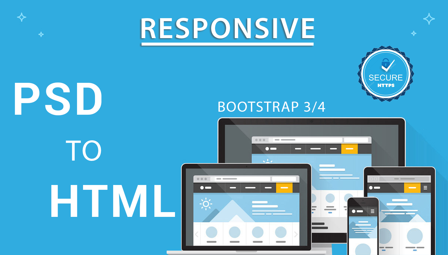 I Will convert PSD to HTML5 with CSS and responsive with BootStrap.
