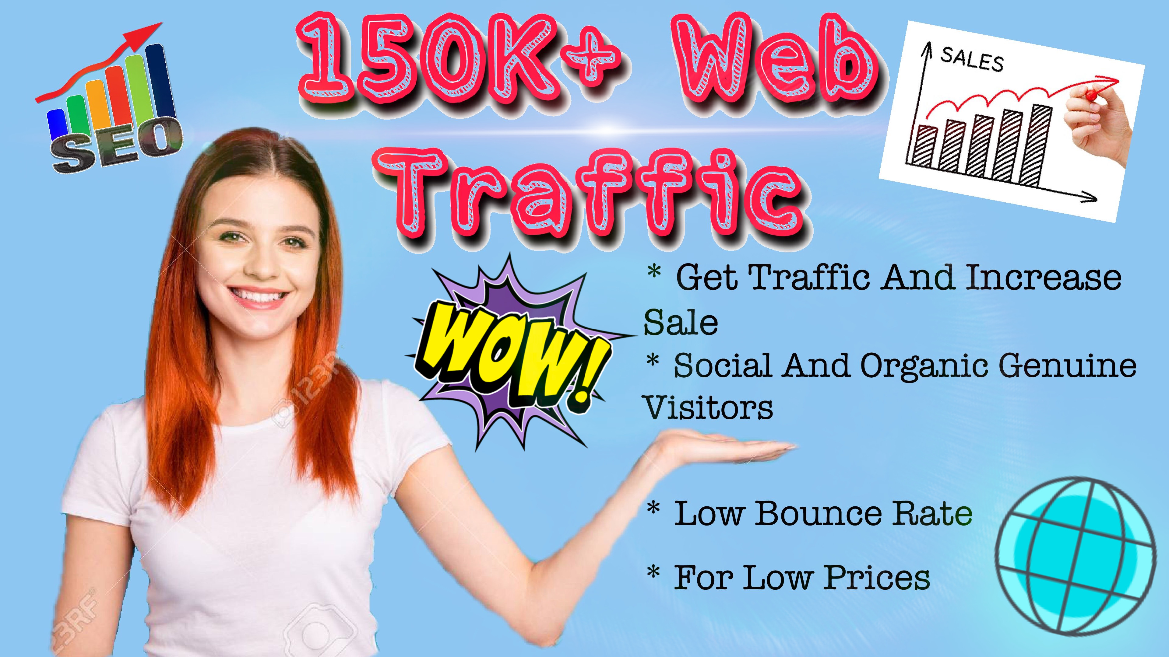 I will give you USA organic web traffic to your site