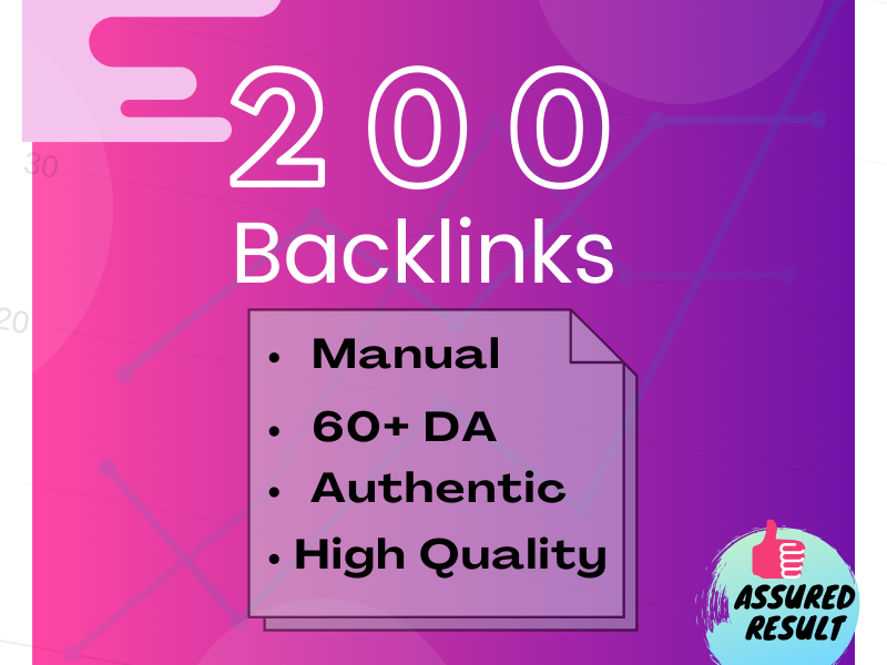 I will provide 200 Dofollow Profile Backlinks with high-quality DA and PA
