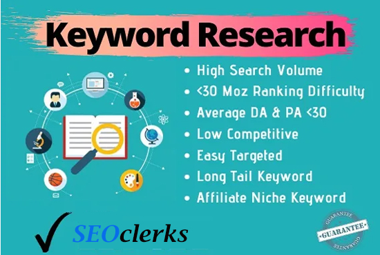 I will provide professional keyword research for your website